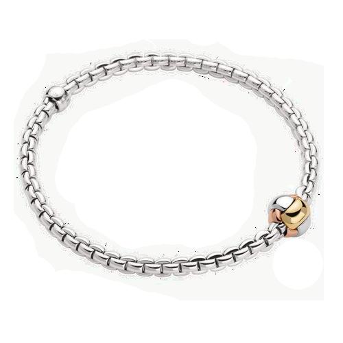 Fope18ct White Gold Eka Tiny Flex'It Bracelet 738B Csbedford