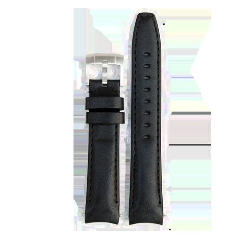 Everest Curved End Leather Strap Tang Buckle Rolex Daytona Black EH8BLK CSbedford