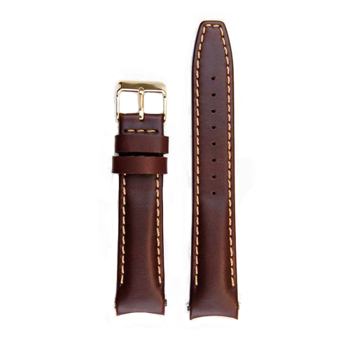 Everest Leather Strap Tang Rolex Datejust Brown Gold Buckle EH12BRNG CSbedford