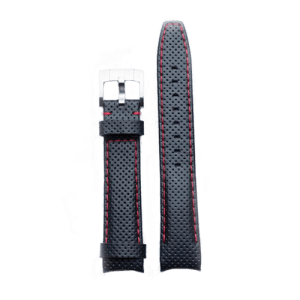 Everest Racing Leather Strap Rolex Explorer I Black Red EH8BLKRR CSbedford