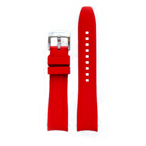 Everest Rubber Tang Buckle Strap Rolex Oyster Perpetual Red EH5RED CSbedford
