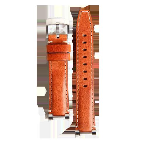 Everest Steel End Link Leather Strap for Rolex Explorer I Tan EH3TAN csbedford