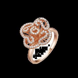 Fei Liu Cascade Mini Ring Rose Gold Vermeil CAS-925P-004-CZ00 csbedford
