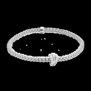 Fope 18ct White Gold Prima Diamond Bracelet 744B PAVEM csbedford