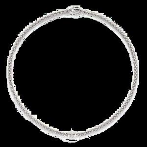 Fope 18ct White Gold Solo Diamond Necklace 653C BBR csbedford