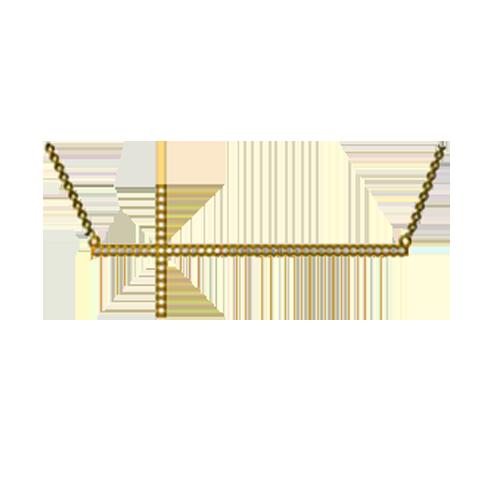 Jhk 18K Cross Necklace VNV00598 csbedford