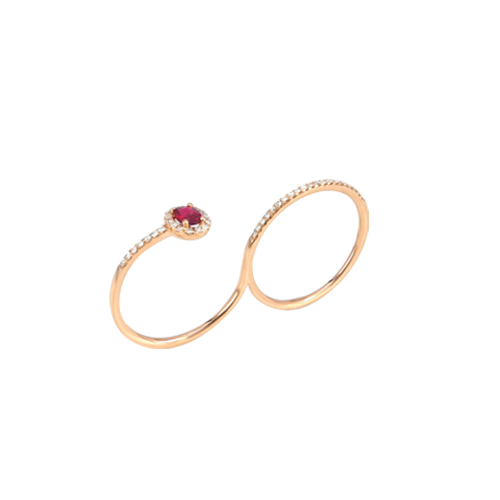 Jhk - 18K Rose Gold Double Loop Ring VRV00981 csbedford