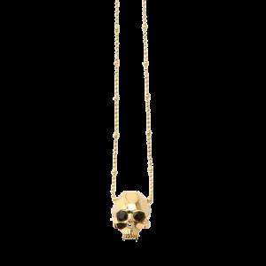 Kasun London Gold Plated Jawless Vampire Skull Pendant GLF-PO55G csbedford