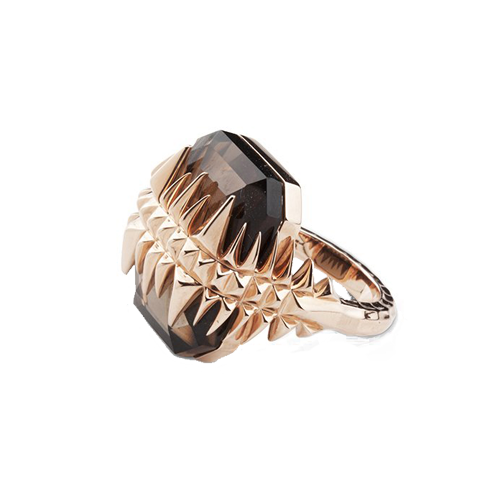 Kasun London Rose Gold Smoky Topaz Black Sea Glacier Ring DODC-R150STRG csbedford
