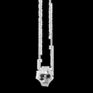 Kasun London Sterling Silver Jawless Vampire Skull Pendant GLF-PO55SS csbedford