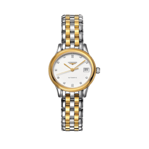 Longines Ladies Flagship Diamond Set White Dial Watch L42743277 csbedford