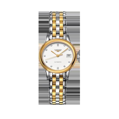 Longines Ladies Flagship Diamond Set White Dial Watch L42743277 csbedford