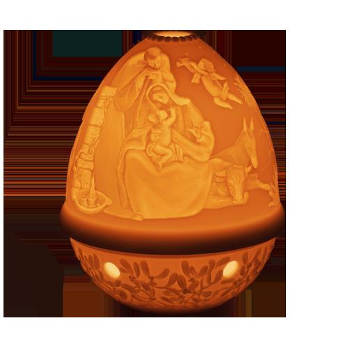 Lladro Lithophane Votive Light Nativity 01017323 csbedford