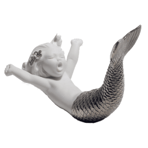 Lladro Waking Up At Sea Silver Re Deco 01008547 csbedford