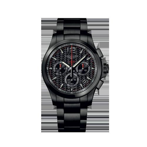 Longines Conquest VHP Black PVD Chronograph Men's Watch L37172666 csbedford