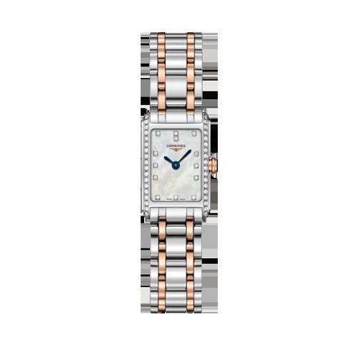 Longines DolceVita 18ct Rose Gold Steel Diamond Ladies Watch L52585897 csbedford