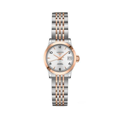 Longines Record Silver Dial Two Tone Womens Watch L23205767 csbedford