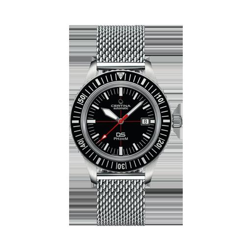Mens Certina DS PH200M Mesh Bracelet Black C0364071105000 Watch Csbedford