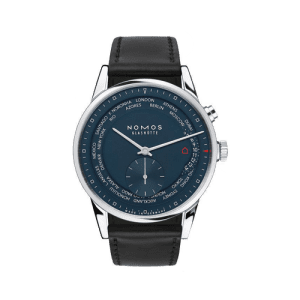 Nomos Zürich world time midnight blue Watch 3174 csbedford