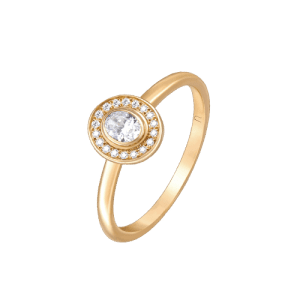 18ct Rose Gold Oval Diamond Ring csbedford