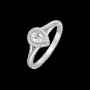 18ct White Gold Pear Cut Diamond Ring UNR-0418-RN csbedford