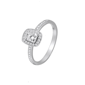 18ct White Gold Radiant Cut Diamond Ring UNR-0363-RN csbedford