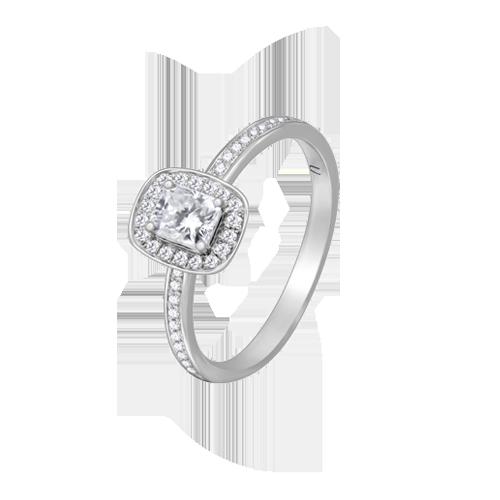 18ct White Gold Radiant Cut Diamond Ring UNR-0363-RN csbedford