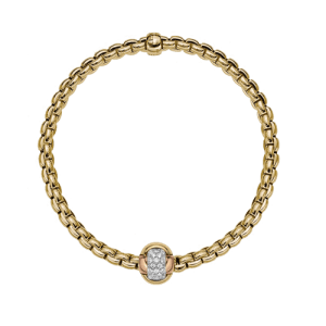 Fope 18ct Yellow Gold Eka Tiny Flex'It 0.25ct Diamond Bracelet 738b bbrm csbedford