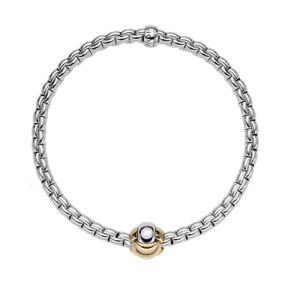 Fope18ct White Gold Eka Tiny Flex'It Bracelet 738B Csbedford
