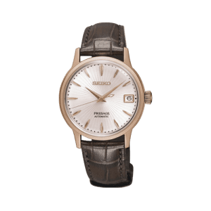 Seiko Ladies Presage Automatic Leather Watch SRP852j1 csbedford