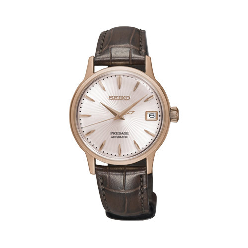 Seiko Ladies Presage Automatic Leather Watch SRP852j1 csbedford