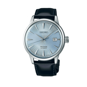 Seiko Presage Cocktail Automatic Blue Dial Leather Strap Watch SRPB43J1 Csbedford