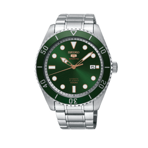 Seiko Sports 5 Green Automatic Mens Watch SRPB93K1 csbedford