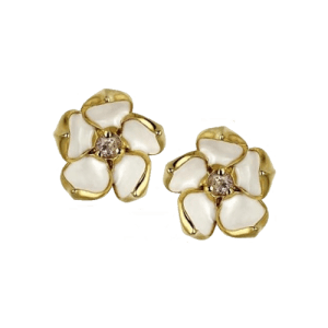 Shaun Leane Gold Vermeil Small Blossom Diamonds Studs SLS256DIA csbedford