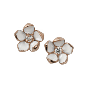 Shaun Leane Rose Gold Vermeil Blossom Diamond Studs Earrings SLS255RG