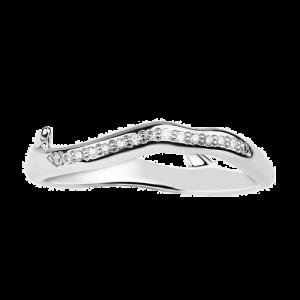 Shaun Leane Silver Cherry Blossom Diamond Branch Ring CB004.SSWHRZM csbedford