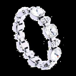 Simon Harrison Lauren Crystal Bracelet Silver SHJ219-03-02 csbedford