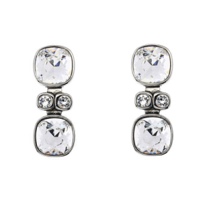 Simon Harrison Lauren Crystal Drop Earrings Silver SHJ220-03-02 csbedford