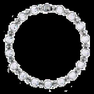 Simon Harrison Lauren Crystal Necklace Silver SHJ218-03-02 csbedford