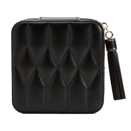Wolf Est 1834 Caroline Leather Zip Case Black 329971 csbedford