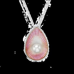 Nicole Barr Freshwater Pearl Pink Teardrop Necklace csbedford