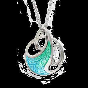 Nicole Barr Green Art Nouveau Necklace csbedford