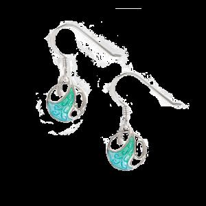 Nicole Barr Green Art Nouveau Wire Earrings csbedford