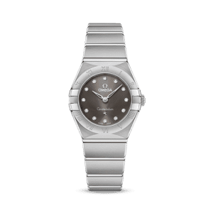Omega Constellation Quartz Grey Dial Watch cs bedford