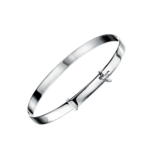 D For Diamond Set Cross Unisex Baby Bangle B775 Gecko CSbedford