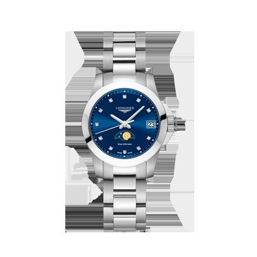 Longines Conquest Ladies Diamond Moonphase Watch L33804976