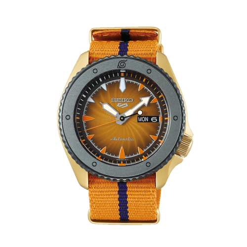 seiko 5 Sports Naruto Uzumaki Limited Edition Watch Csbedford SRPF70K1