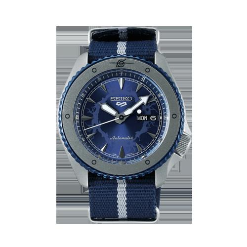seiko 5 Sports Sasuke Uchiha Limited Edition Automatic Blue Watch Csbedford SRPF69K1