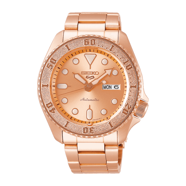 seiko SRPE72K1 csbedford 5 Sports Automatic Rose Gold Day Date Watch