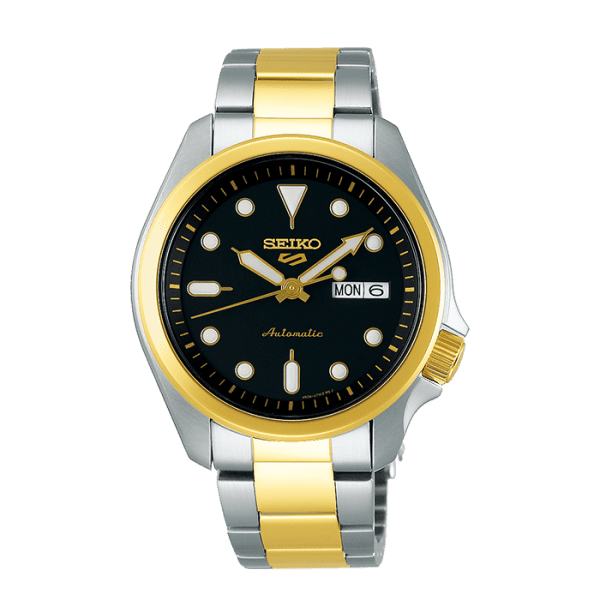 seiko SRPE60K1 csbedford 5 Automatic Two-Tone Black Day Date Watch